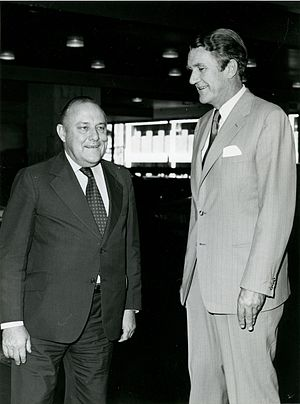 Closer Economic Relations - Prime Ministers Robert Muldoon and Malcolm Fraser who instigated CER.