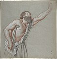 Man Leaning on a Crutch with Left Arm Raised MET DP806748.jpg