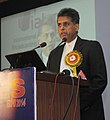 """Manish Tewari addressing at the inauguration of the """"BES EXPO-2014""""- 20th International Conference & Exhibition on Terrestrial and Satellite Broadcasting, in New Delhi on January 14, 2014.jpg"""