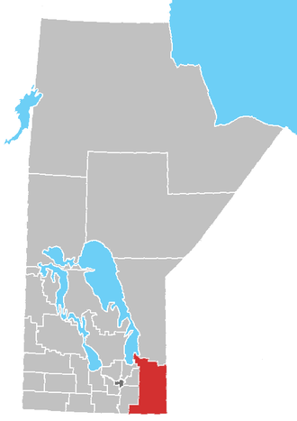 Division No. 1, Manitoba - Location of Division 1 in Manitoba