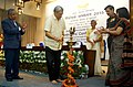 Manohar Parrikar lighting the lamp at the inaugural session of two-day Controllers' Conference of Defence Accounts Department, in New Delhi. The Chief of Army Staff, General Dalbir Singh.jpg