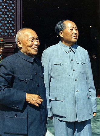 Li Zongren - Zongren and Mao on 1st of October, 1965 during the national day celebration