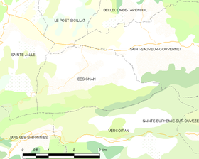 Map commune FR insee code 26050.png