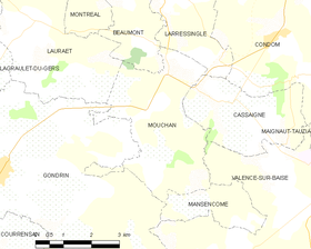 Map commune FR insee code 32292.png