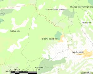 Babeau-Bouldoux - Map