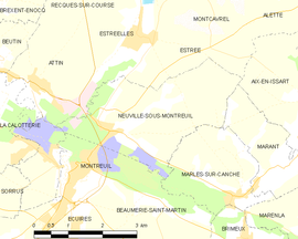 Mapa obce Neuville-sous-Montreuil