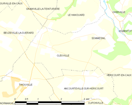 Mapa obce Cleuville