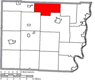 Wheeling Township, Belmont County, Ohio - Image: Map of Belmont County Ohio Highlighting Wheeling Township