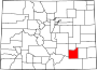 Map of Colorado highlighting Otero County.svg