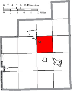 Location of Claridon Township in Geauga County