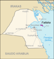 Map of Kuwait Failaka (lithuanian).png