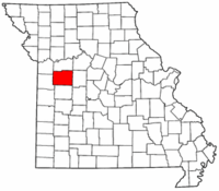 Map of Missouri highlighting Johnson County.png
