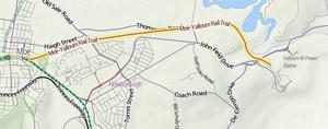 Yallourn railway line - Map of the Moe-Yallourn Rail Trail.