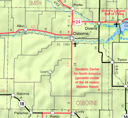 KDOT map of Osborne County (legend)