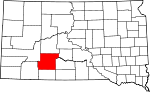 State map highlighting Jackson County