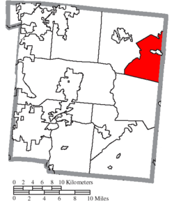 Location of Massie Township in Warren County