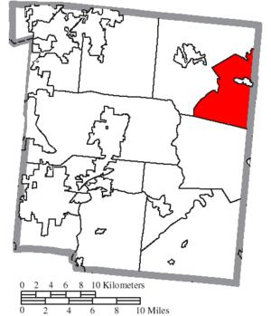 Massie Township, Warren County, Ohio - Image: Map of Warren County Ohio Highlighting Massie Township