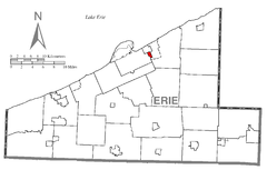 Map of Wesleyville, Erie County, Pennsylvania Highlighted.png