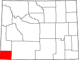 Map of Wyoming highlighting Uinta County.svg