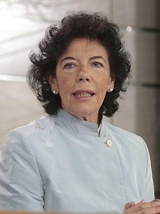 Spokesperson of the Government of Spain - Image: María Isabel Celaá en su primera comparecencia como portavoz del Gobierno