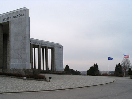 The Mardasson Memorial near Bastogne, Belgium Mardasson Memorial Bastogne.JPG