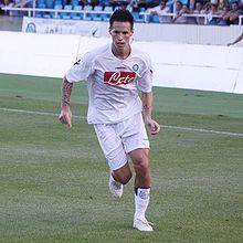 Hamšík nel 2009, in allenamento coi partenopei.
