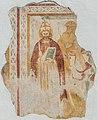 Maria Saal Lind Filialkirche hl Martin Fresko-Fragment mit Papst-Darstellung 21092016 4387.jpg
