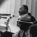 Martin Luther King, Jr. speaking at the Civil Rights Marc.jpg