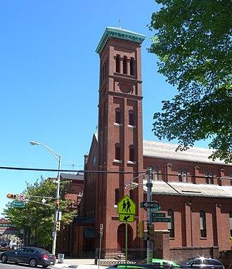 St. Mary's Abbey Church - Image: Mary RCC High steeple jeh