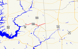 Maryland Route 318 - Image: Maryland Route 318 map
