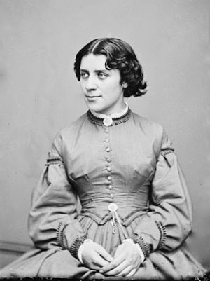 Anna Elizabeth Dickinson - Image: Mathew Brady, Anna Elizabeth Dickinson, between 1855 and 1865