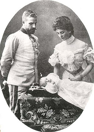 Prince Ludwig Gaston of Saxe-Coburg and Gotha - Ludwig with his wife Mathilde and their son Anton.