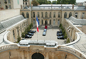 L'hôtel de Matignon.