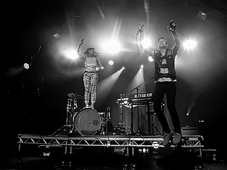 Matt and Kim - Matt and Kim performing in London in 2015.