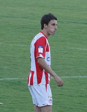 Matt Derbyshire - Derbyshire playing for Olympiacos in 2010