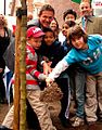 Matthew Wright Tree Ceremony Hallam Street Westminster 2009.JPG