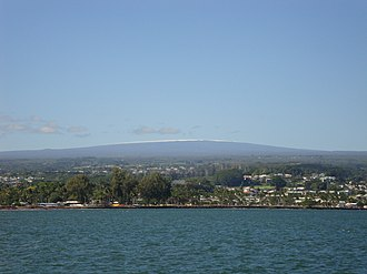 Mauna Loa - Mauna Loa from Hilo Bay, December 2017
