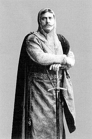 König Ottokars Glück und Ende - Max Devrient as Zawisch in the Burgtheater in Vienna 1891.
