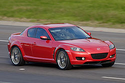 Mazda RX-8 on freeway.jpg