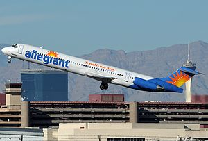 Allegiant Air - An Allegiant Air McDonnell Douglas MD-83 at McCarran International Airport