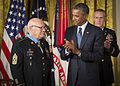 Medal of Honor ceremony in honor of retired Command Sgt. Maj. Bennie Adkins and Spc. 4 Donald Sloat 140915-A-AJ780-011.jpg
