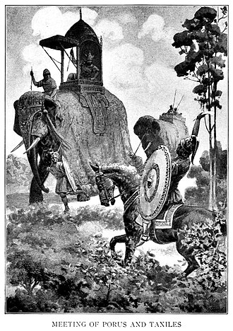 Porus - Meeting of Porus and Taxiles, a 20th century artist's imagination.