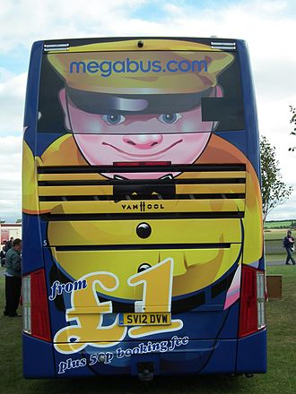 Megabus (Europe) - Megabus mascot Sid