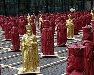 Ottmar Hörl - Art installation Mein Karl by Ottmar Hörl on the Katschhof place in Aachen, Germany