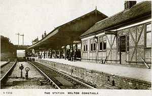 Melton Constable railway station - Image: Melton Constable Railway Station