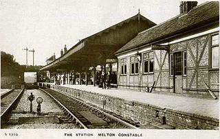 Melton Constable railway station Former railway station in Norfolk, England
