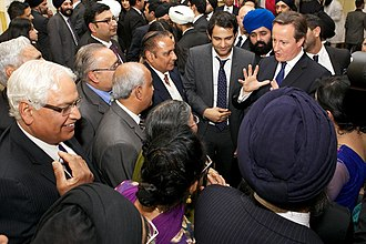 British Asian - Members of the Asian community with the then prime minister David Cameron in 2014