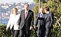 Merkel, Erdoğan, Putin and Macron before the Summit for Syria.jpg
