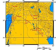 แผนที่บริเวณเมโสโปเตเมีย