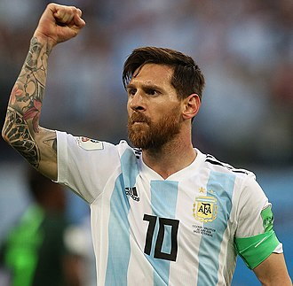 Lionel Messi - Messi playing for Argentina at the 2018 FIFA World Cup